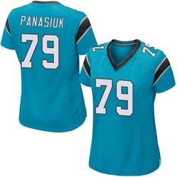 Mike Panasiuk Carolina Panthers Game Women's Alternate Jersey (Blue)