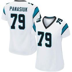 Mike Panasiuk Carolina Panthers Game Women's Jersey (White)