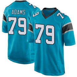 Myles Adams Carolina Panthers Game Youth Alternate Jersey (Blue)