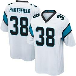Myles Hartsfield Carolina Panthers Game Men's Jersey (White)