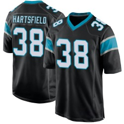 Myles Hartsfield Carolina Panthers Game Youth Team Color Jersey (Black)