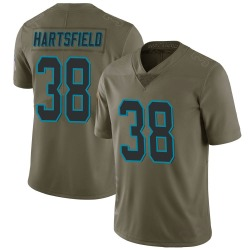 Myles Hartsfield Carolina Panthers Limited Men's 2017 Salute to Service Jersey (Green)