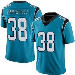 Myles Hartsfield Carolina Panthers Limited Men's Alternate Vapor Untouchable Jersey (Blue)