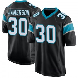 Natrell Jamerson Carolina Panthers Game Youth Team Color Jersey (Black)