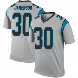 Natrell Jamerson Carolina Panthers Legend Men's Inverted Silver Jersey ()