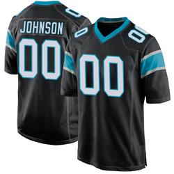 PJ Johnson Carolina Panthers Game Men's Team Color Jersey (Black)