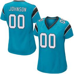 PJ Johnson Carolina Panthers Game Women's Alternate Jersey (Blue)