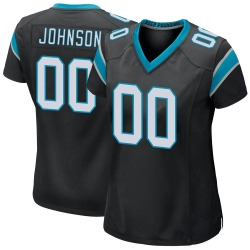 PJ Johnson Carolina Panthers Game Women's Team Color Jersey (Black)