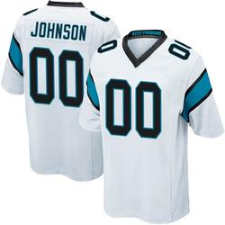 PJ Johnson Carolina Panthers Game Youth Jersey (White)