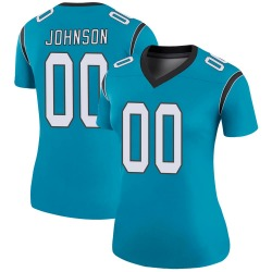 PJ Johnson Carolina Panthers Legend Women's Color Rush Jersey (Blue)