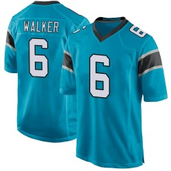 P.J. Walker Carolina Panthers Game Men's Alternate Jersey (Blue)