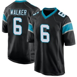 P.J. Walker Carolina Panthers Game Youth Team Color Jersey (Black)