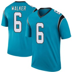 P.J. Walker Carolina Panthers Legend Men's Color Rush Jersey (Blue)