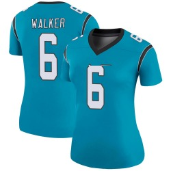 P.J. Walker Carolina Panthers Legend Women's Color Rush Jersey (Blue)