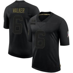 P.J. Walker Carolina Panthers Limited Men's 2020 Salute To Service Jersey (Black)