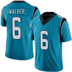 P.J. Walker Carolina Panthers Limited Men's Alternate Vapor Untouchable Jersey (Blue)