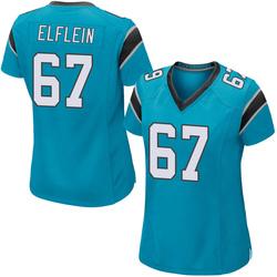 Pat Elflein Carolina Panthers Game Women's Alternate Jersey (Blue)