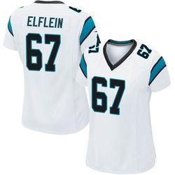 Pat Elflein Carolina Panthers Game Women's Jersey (White)