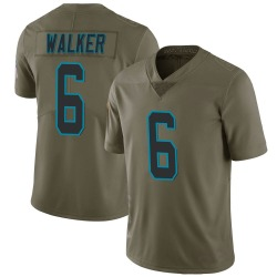 Phillip Walker Carolina Panthers Limited Men's 2017 Salute to Service Jersey (Green)