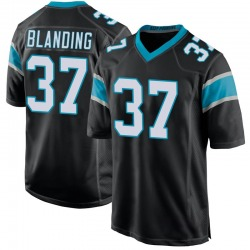 Quin Blanding Carolina Panthers Game Youth Team Color Jersey (Black)