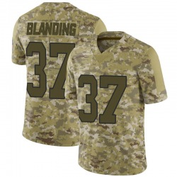 Quin Blanding Carolina Panthers Limited Men's 2018 Salute to Service Jersey (Camo)