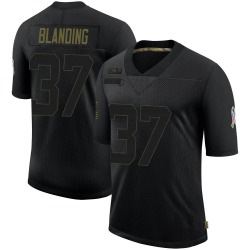 Quin Blanding Carolina Panthers Limited Men's 2020 Salute To Service Jersey (Black)