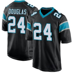 Rasul Douglas Carolina Panthers Game Youth Team Color Jersey (Black)