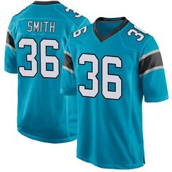 Rodney Smith Carolina Panthers Game Youth Alternate Jersey (Blue)