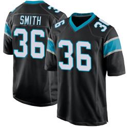 Rodney Smith Carolina Panthers Game Youth Team Color Jersey (Black)