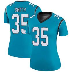 Rodney Smith Carolina Panthers Legend Women's Color Rush Jersey (Blue)