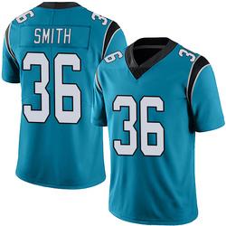 Rodney Smith Carolina Panthers Limited Men's Alternate Vapor Untouchable Jersey (Blue)