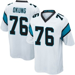 Russell Okung Carolina Panthers Game Men's Jersey (White)