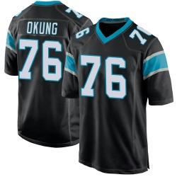 Russell Okung Carolina Panthers Game Youth Team Color Jersey (Black)