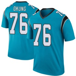 Russell Okung Carolina Panthers Legend Men's Color Rush Jersey (Blue)