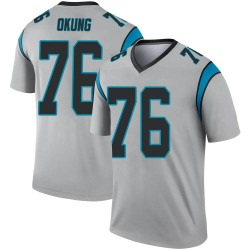 Russell Okung Carolina Panthers Legend Men's Inverted Silver Jersey ()