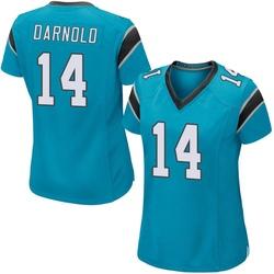 Sam Darnold Carolina Panthers Game Women's Alternate Jersey (Blue)