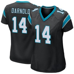 Sam Darnold Carolina Panthers Game Women's Team Color Jersey (Black)