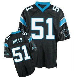 Sam Mills Carolina Panthers Authentic Men's Mitchell And Ness Throwback Jersey (Black)