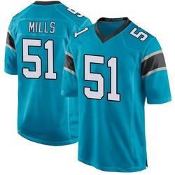 Sam Mills Carolina Panthers Game Men's Alternate Jersey (Blue)