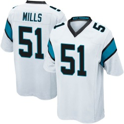 Sam Mills Carolina Panthers Game Men's Jersey (White)
