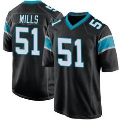 Sam Mills Carolina Panthers Game Youth Team Color Jersey (Black)