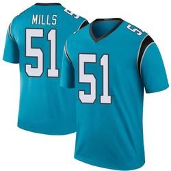 Sam Mills Carolina Panthers Legend Men's Color Rush Jersey (Blue)