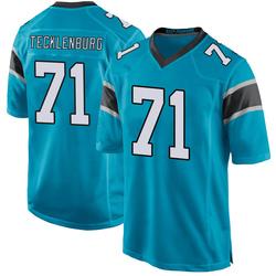 Sam Tecklenburg Carolina Panthers Game Men's Alternate Jersey (Blue)