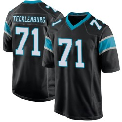 Sam Tecklenburg Carolina Panthers Game Men's Team Color Jersey (Black)