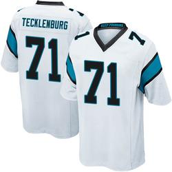 Sam Tecklenburg Carolina Panthers Game Youth Jersey (White)