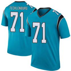 Sam Tecklenburg Carolina Panthers Legend Men's Color Rush Jersey (Blue)