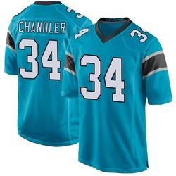 Sean Chandler Carolina Panthers Game Men's Alternate Jersey (Blue)
