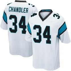 Sean Chandler Carolina Panthers Game Men's Jersey (White)