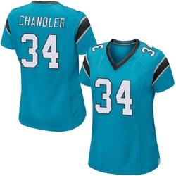 Sean Chandler Carolina Panthers Game Women's Alternate Jersey (Blue)