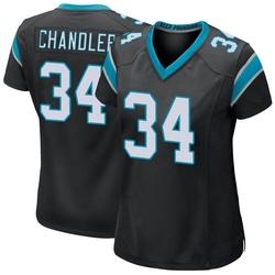 Sean Chandler Carolina Panthers Game Women's Team Color Jersey (Black)